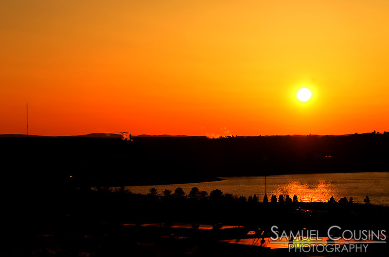 Sunset over Back Cove in Portland, Maine. Taken from Standpipe Park.