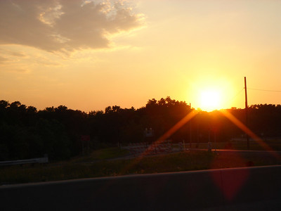 Sunset along Hwy. 49 in Chesterton, IN