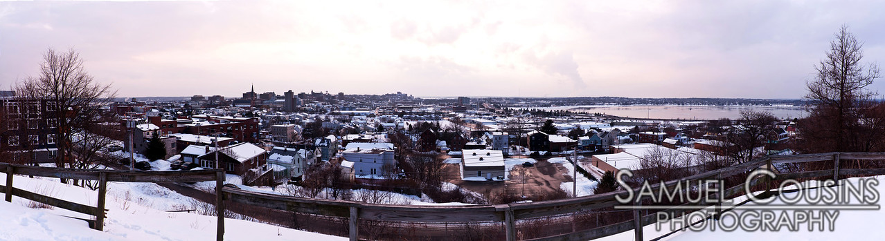Sunset over Portland, Maine and Back Cove. Taken from Standpipe Park.