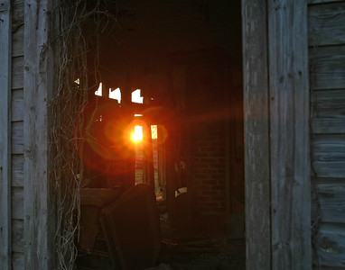 Refection on a Sharecropper Home at Sunset