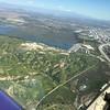 Prado Dam and the always busy 91 Freeway in Corona.