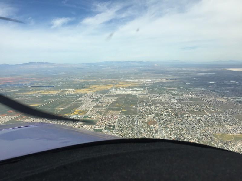 Looking north towards Mojave.