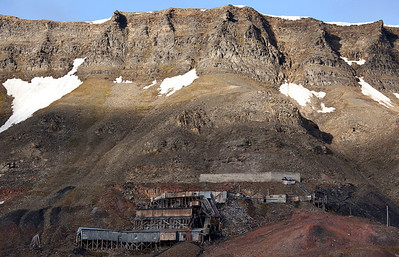 Old derelict mine in Longyearbyen.