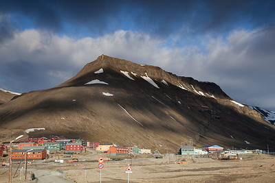 Longyearbyen in a rare patch of sunshine!