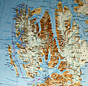 Course of the MS Stockholm, June 13-20, 2014 along western coast of Spitzbergen, Svalbard