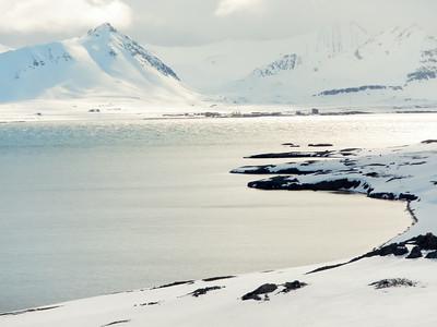 Ny-Ålesund across Kongsfjorden June, 2014