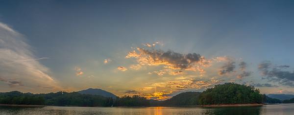 Lake Fontana Sunset