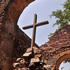Cross in the old Portuguese mission at Dondo, overlooking the Cuanza River.