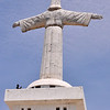 The Cristo Rei (Christ the King) statue of Lubango, as seen from the back.