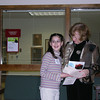 Emily Padgett receiving Honorable Mention Youth Category from Gerri Varner