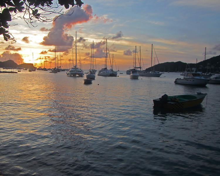 2017_ Bequia Harbor sunset_IMG_1425