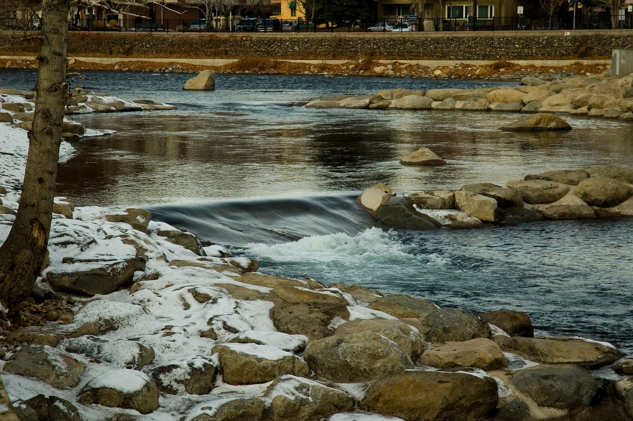 River running thru Reno