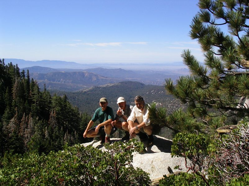 Lawrence, Peter and Jim. San Jacinto Valley to the West.