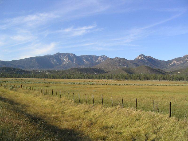 Tahquitz Peak from Garner Valley.