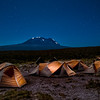 A clear view of Kili from our camp on the plateau