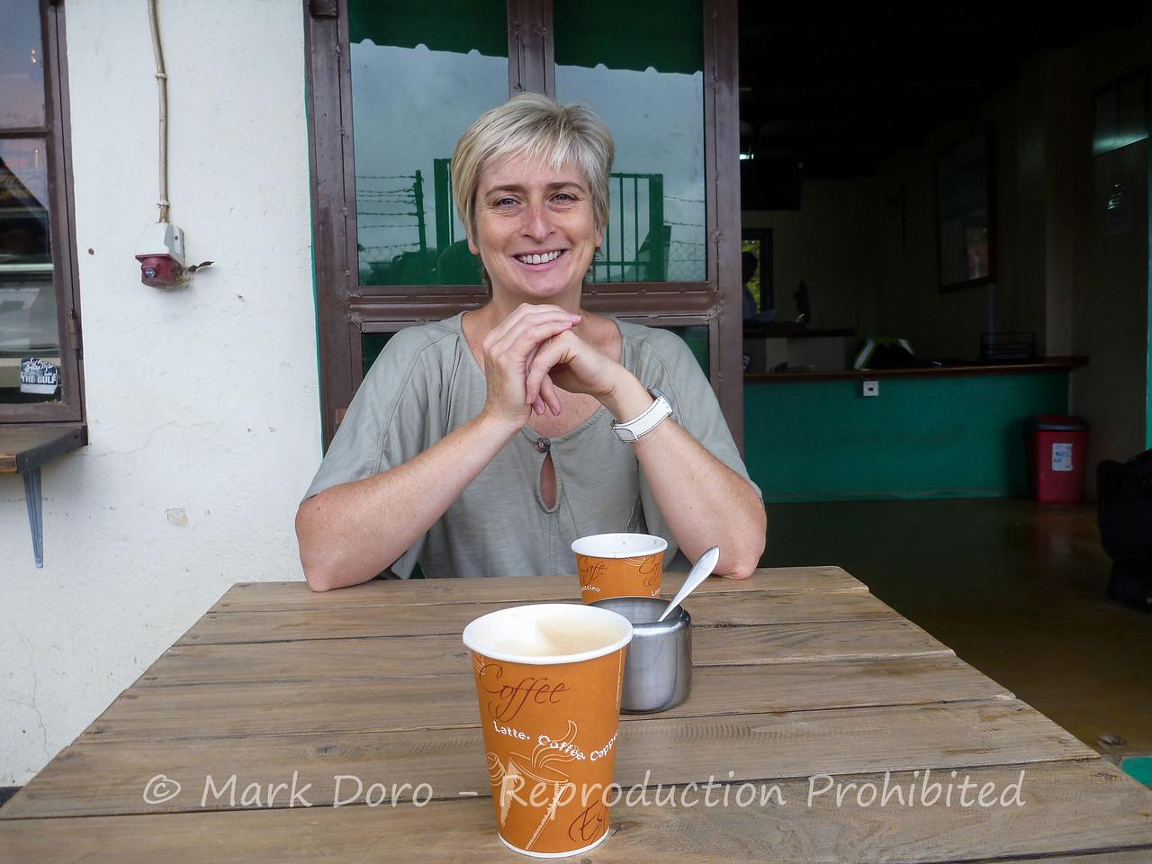 Morning coffee, Arusha Airport Tanzania