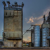 Feed and grain silos at the railroad. Jupe Feeds is a family owned business with the milling operations located in Temple.