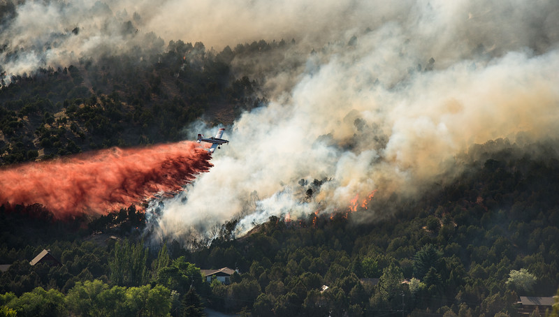S.E.A.T. Retardant Drop on Charlotte Fire