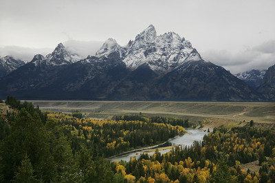tetons from snake river overlook