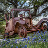 Old car in Llano, TX.