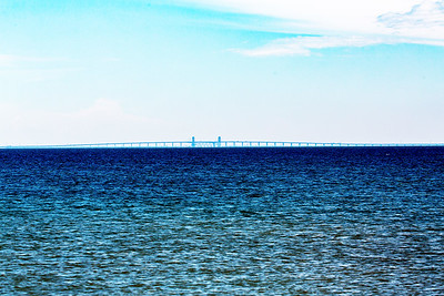 In the distance to the south: The Galveston Causeway