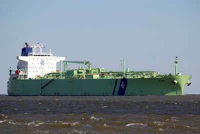 That green ship turned out to be the Tanker BW Borg.