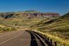 Road through Davis Mountains between Fort Davis and Balmorhea