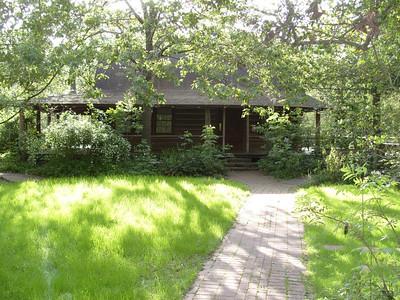 Edith L Moore Nature Sanctuary:  The Log Cabin