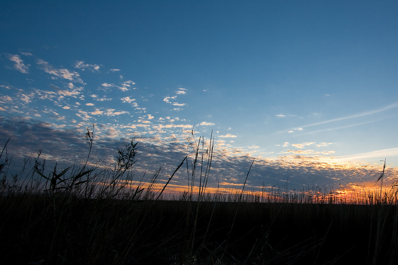 Sunset, Anahuac National Wildlife Refuge