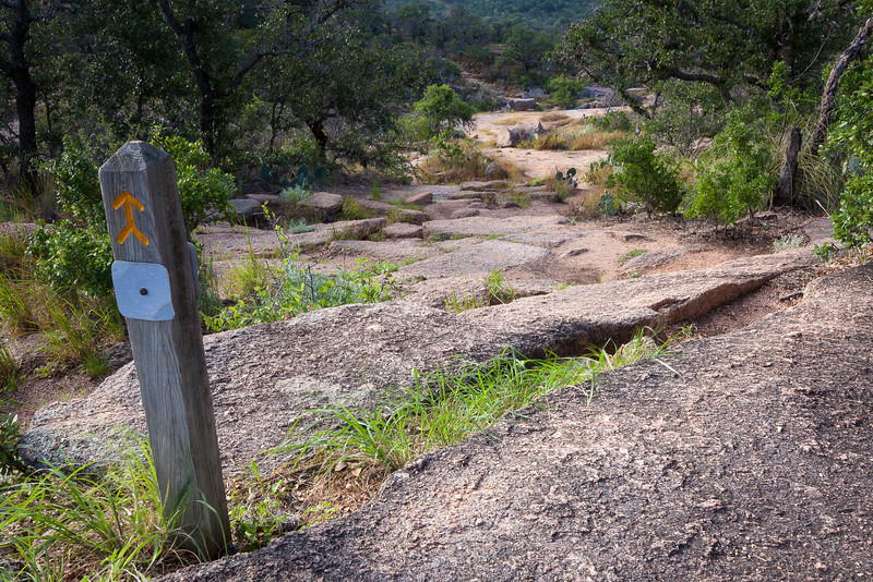 Echo Canyon Trail runs North/South between Enchanted Rock and Little Rock.