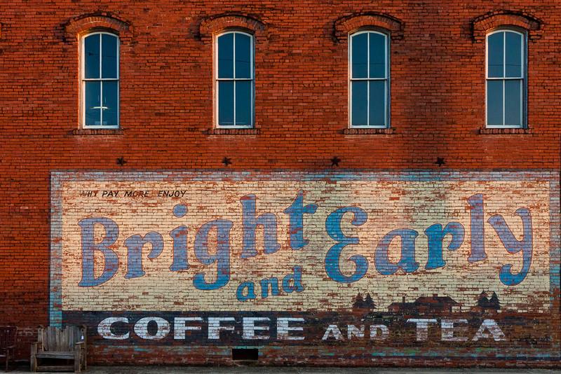 The Sugar Moon Antiques building in Hico, Texas.