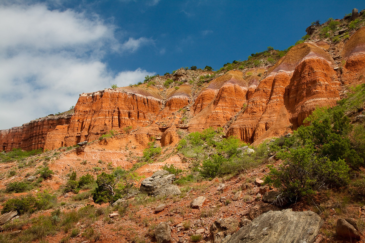 This is nearly three miles into the remote area of Palo Duro Canyon State Park.