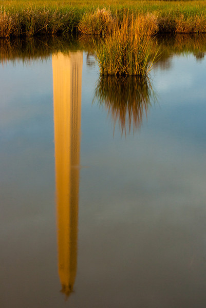 Upside Down San Jacinto Monument Reflection