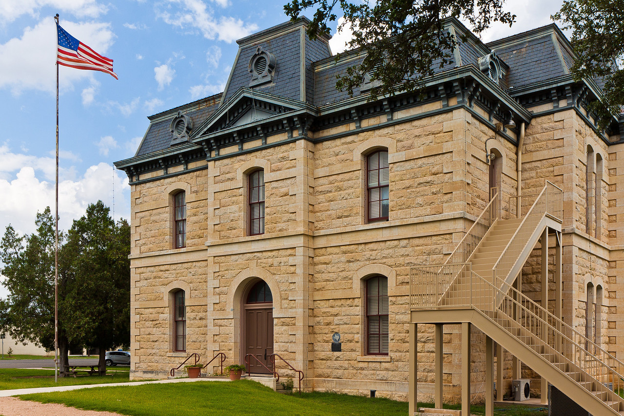 """Built in 1885, now used as a visitors center and for special events. The courhouse was used in the 2010 filming of the remake of """"True Grit""""."""