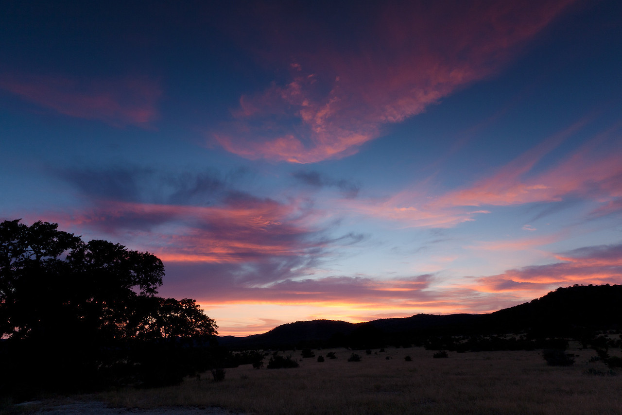 This is shortly after sunset, taken on the side of highway 83 across from the road to our cabin.
