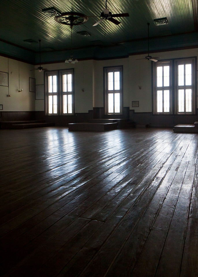 """The upstairs room in the Old Blanco County Courthouse was used in the 2010 remake of """"True Grit""""."""