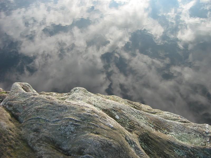 Stone ledge on Price Lake 2