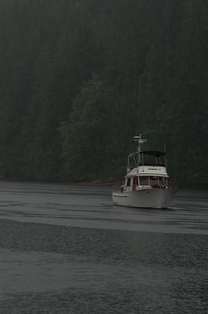 Rain in Melanie Cove