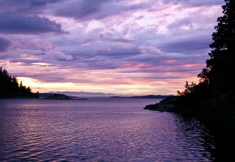 Copeland Islands, Sunset