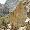 Rock Patterns in a road cut, Kings River Canyon;