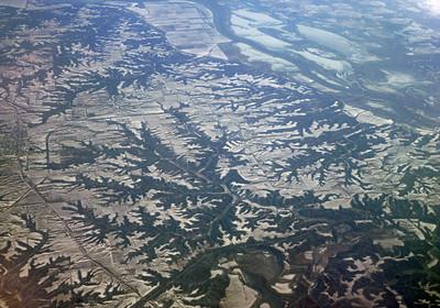 Iowa landscape in Jan