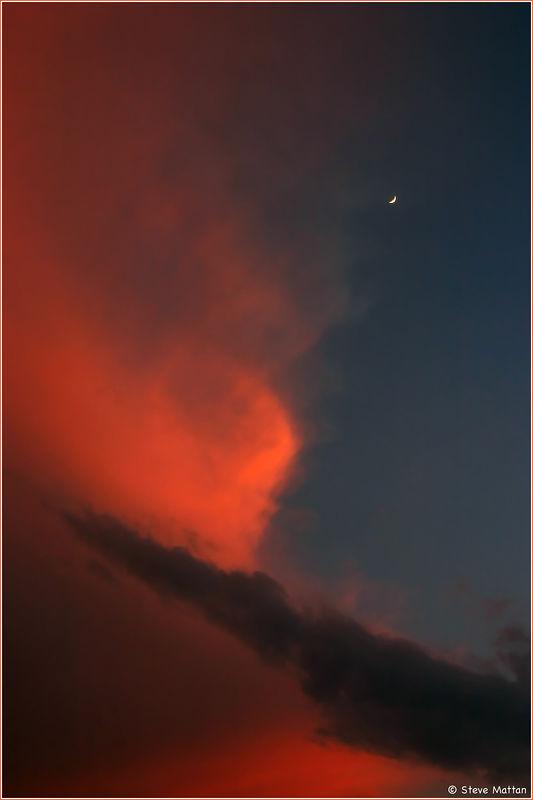 Storm Cloud and Crescent Moon