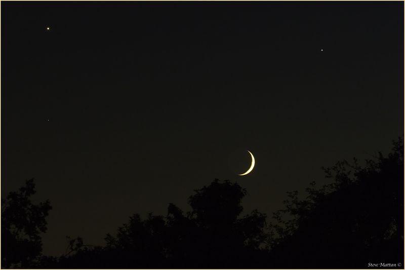 Venus, Jupiter, Moon, Spica