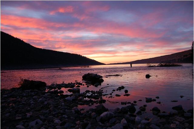 Sunset at Wallowa Lake