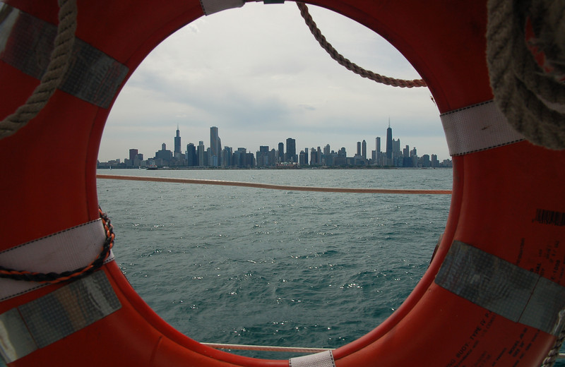 Chicago skyline from the sailboat