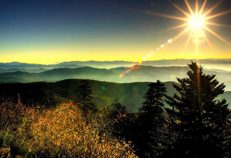 Clingman's Dome. Smoky Mountains HDR