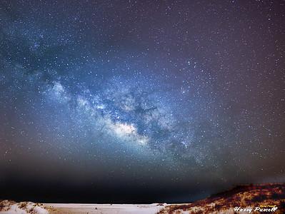 the Milky Way at Pensacola Beach