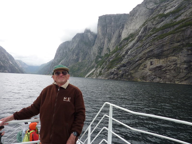 On the way to Lysebotn village, at the very end of the Lysefjord.
