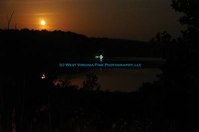 Night fishing at Elk Fork Lake.