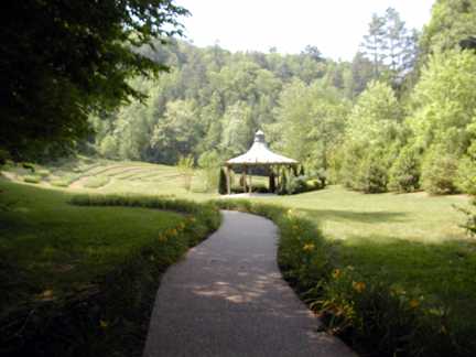 Walking path to the gazebo<br /> The Lily Barn<br /> Townsend, TN